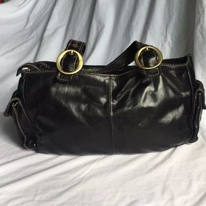 Francesco Biasia black leather bag